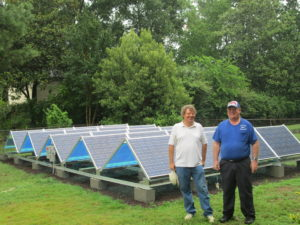 Emission reducing solar panels installed through our WISE Home Energy Program.