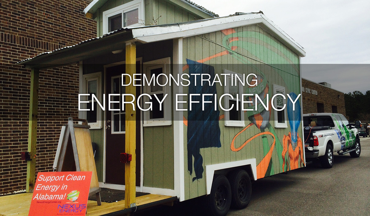 Energy Efficient Home on Trailer behind truck