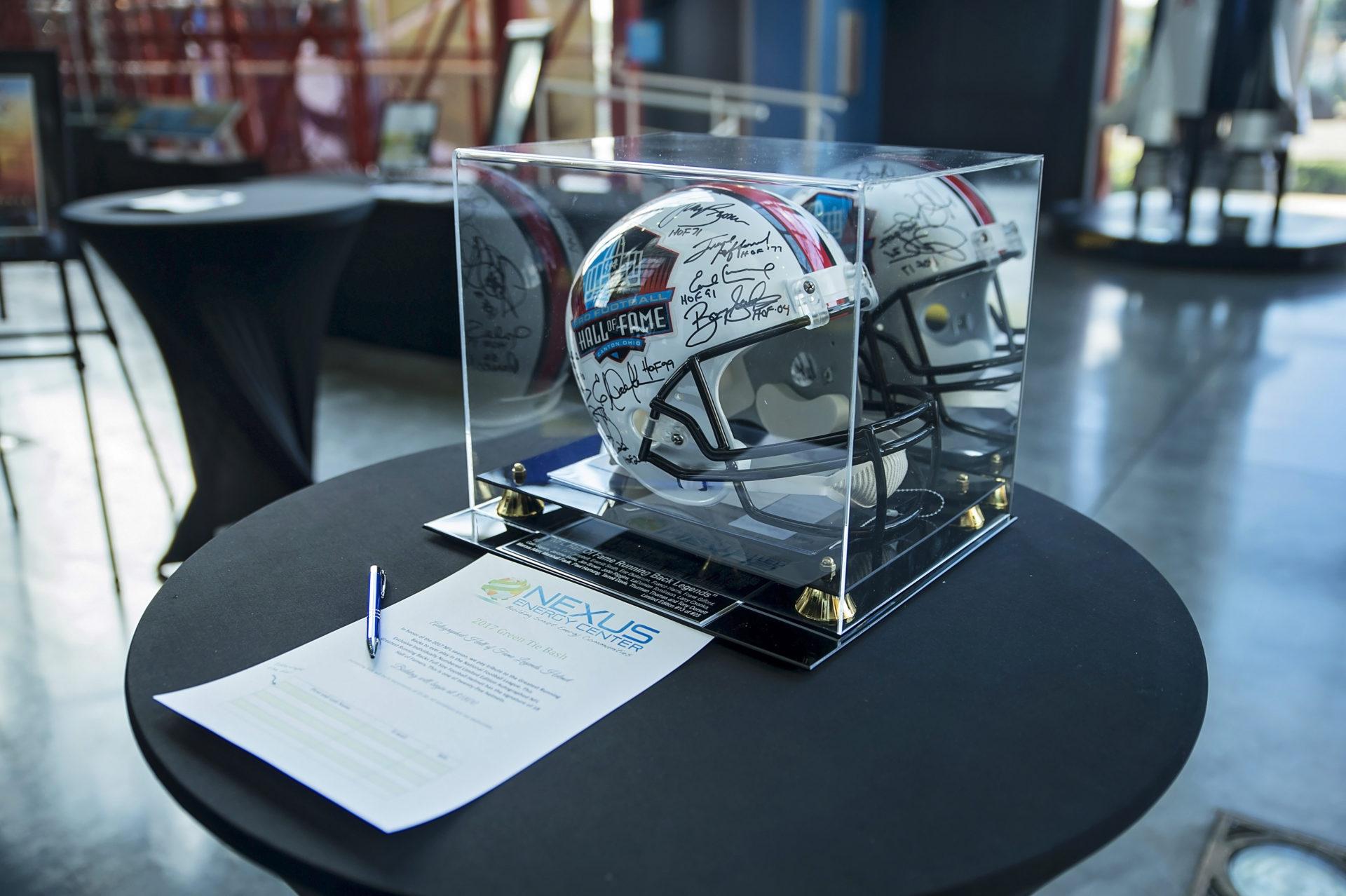 Auction Item: NFL Running Back Hall of Fame Helmet
