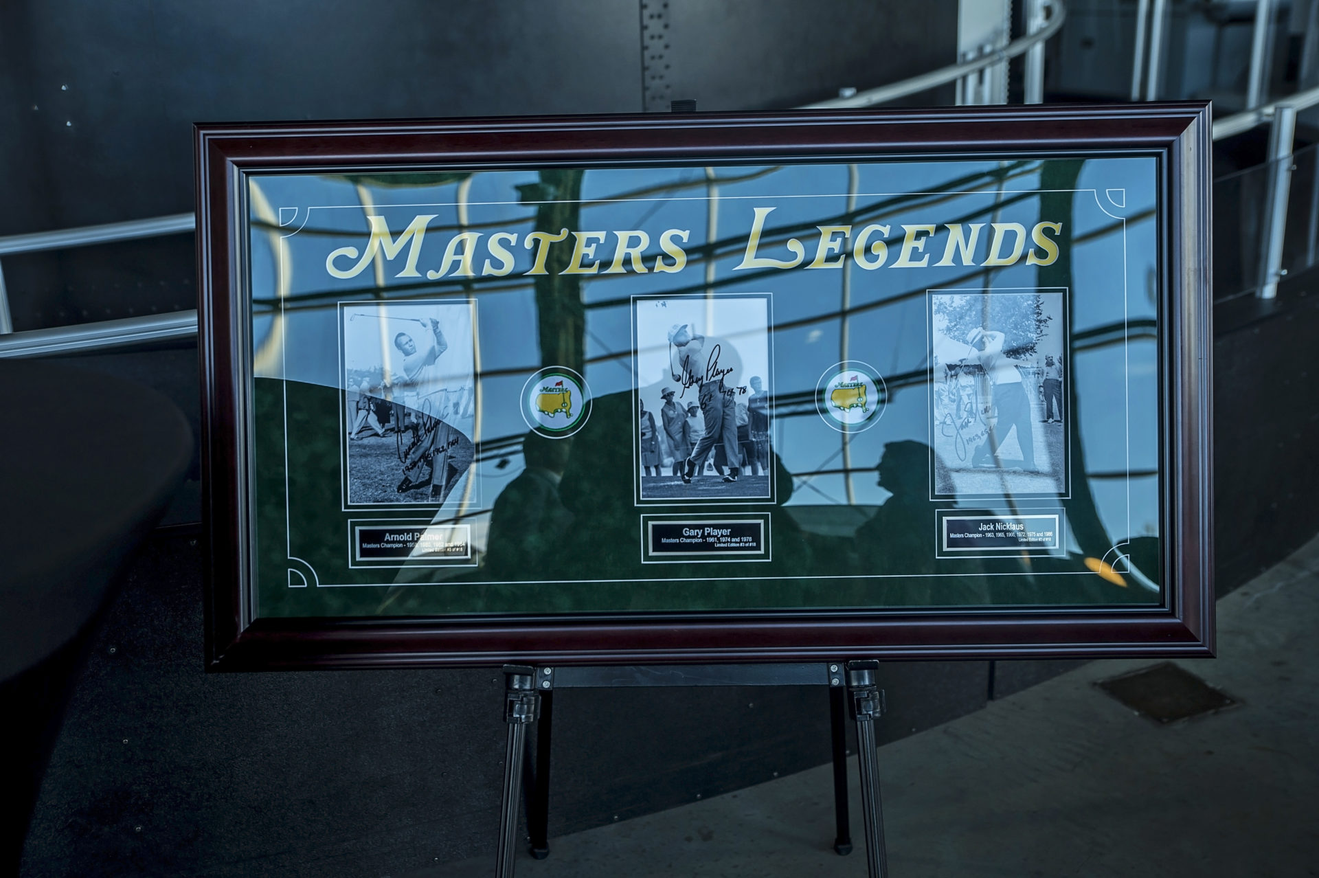 Auction Item: Masters Legends Photo Display
